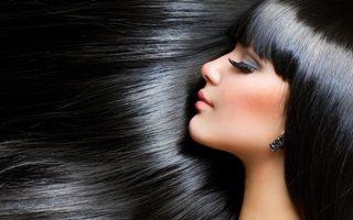 блестящие волосы: фото