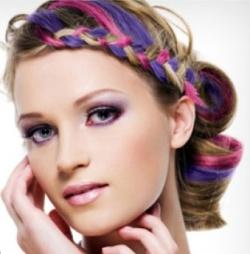 Окрашивание волос мелками: фото