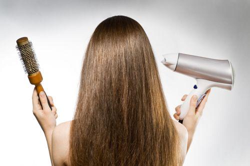 выпрямление волос феном фото